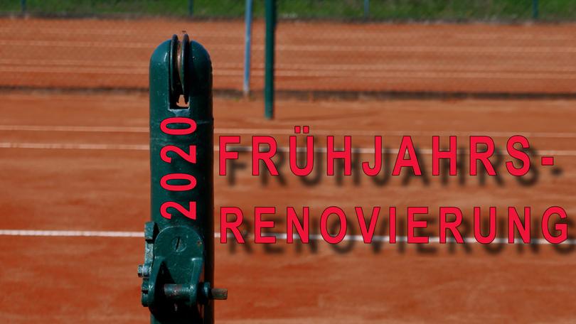 FRÜHJAHRS- RENOVIERUNG 2020