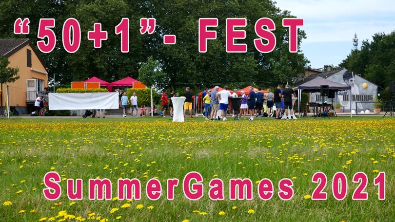 """""""50+1""""-Fest und SummerGames 2021"""