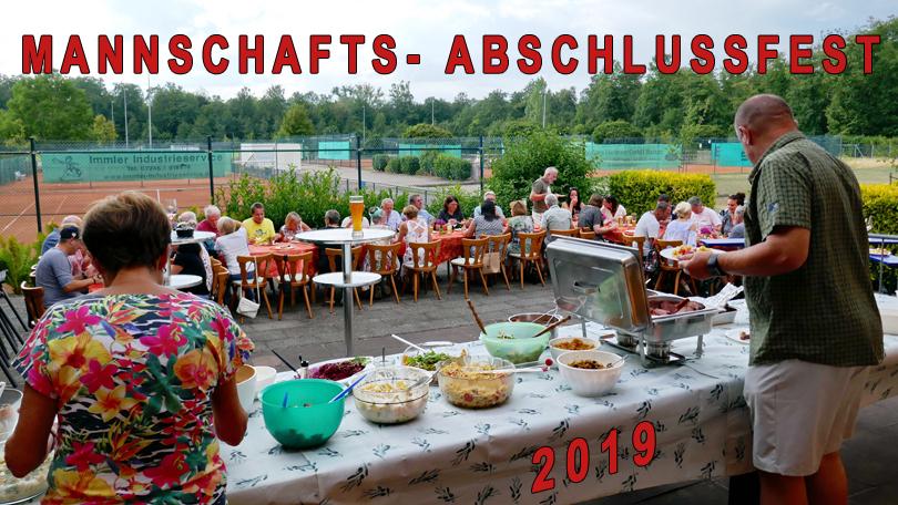 MANNSCHAFTS- ABSCHLUSSFEST 2019