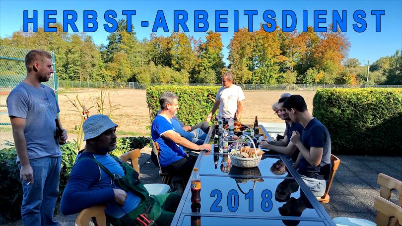Herbst- Arbeitsdienst 2018